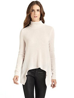 vkoo - Cashmere Asymmetrical Turtleneck Sweater