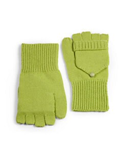Qi New York - Cashmere Pop Top Gloves