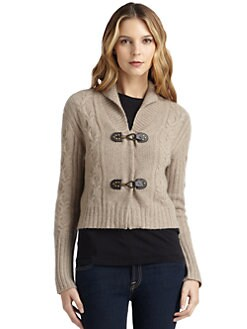 Qi New York - Cadence Cashmere Cable-Knit Cardigan