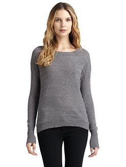 Qi New York - Stella Cashmere Chest Pocket Sweater