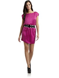 Akiko - Silk Beaded Belt Dress