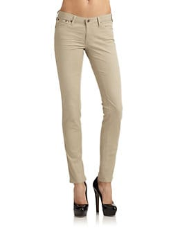 AG Adriano Goldschmied - The Legging Super Skinny Khaki Pants