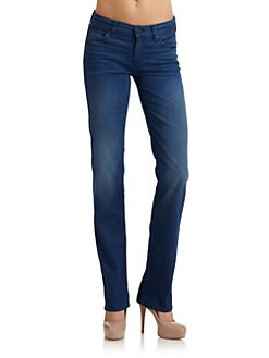 7 For All Mankind - Straight-Leg Jeans/Dusty Blue