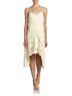 Free People - Ikebana Embroidered Linen Dress