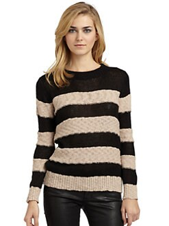 A+RO - Striped Pullover Sweater