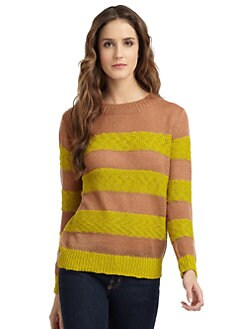 A+RO - Cable-Knit Striped Sweater