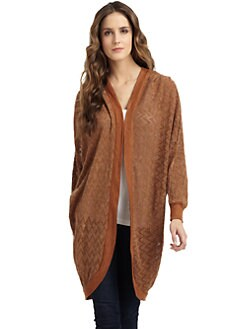 A+RO - Perforated Zigzag Dolman Cardigan