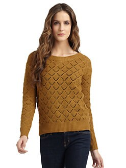 A+RO - Back Button Crochet Sweater