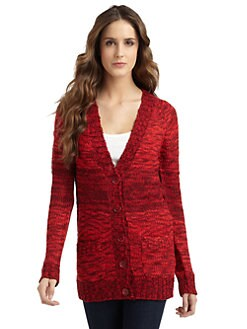 A+RO - Marled V-Neck Cardigan