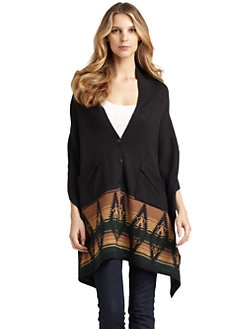 A+RO - Hi-Lo Tribal Print Poncho