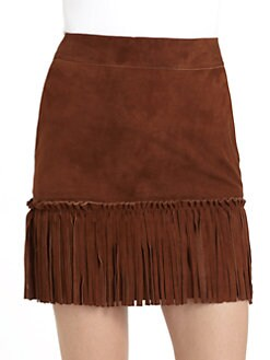 Love Moschino - Suede Fringe Skirt