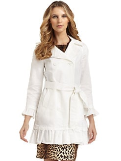 Love Moschino - Ruffled Trench Coat