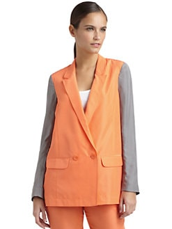 Tibi - Silk Two-Tone Blazer