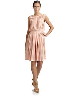 Tibi - Pleated Relaxed Jersey Dress