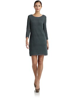 Tibi - Cotton Crochet Long Sleeve Dress