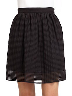 Cynthia Rowley - Cotton Sheer Stripe Skirt