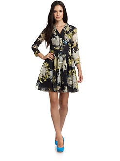 Cynthia Rowley - Cotton Abstract Floral Dress
