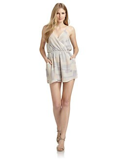 ADDISON - Silk Printed Short Jumpsuit