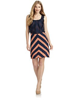 ADDISON - Chevron Stripe Dress