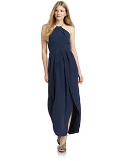 ADDISON - Silk Halter Gown