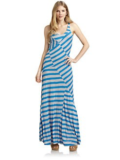 ADDISON - Striped Maxi Dress