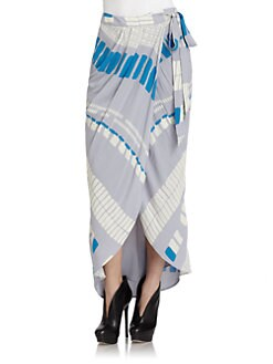 ADDISON - Silk Printed Wrap Skirt