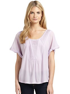 ADDISON - Pinktuck Chiffon Blouse
