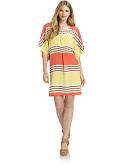 ADDISON - Silk Striped Dress