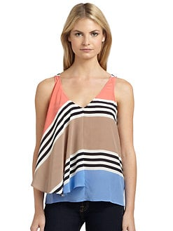 ADDISON - Silk Striped Tank Top