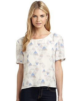 ADDISON - Silk Printed Blouse