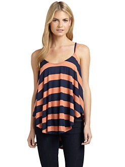 ADDISON - Striped Swing Tank Top