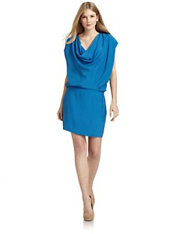 ADDISON - Silk Cowl Dress