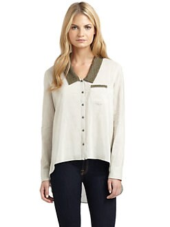 ADDISON - Eyelet Collar Blouse