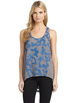 ADDISON - Chiffon Beaded Racerback Tank Top
