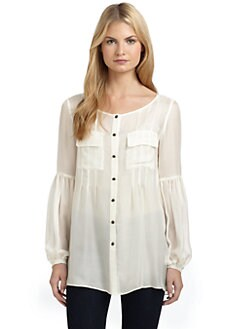 ADDISON - Silk Chiffon Pocket Tunic