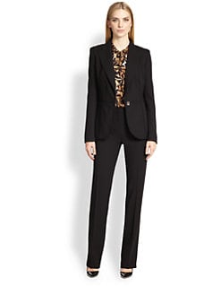 Escada - Paneled One-Button Wool Jacket