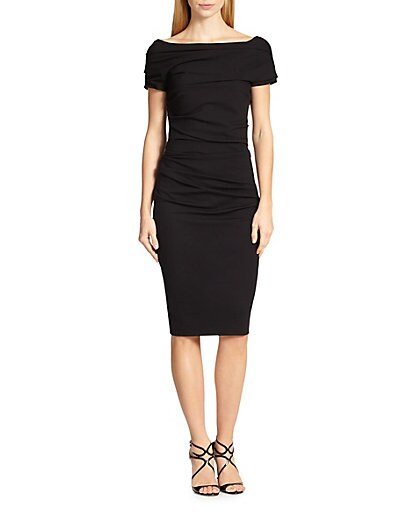 Sale alerts for Escada Ruched Off-The-Shoulder Dress - Covvet