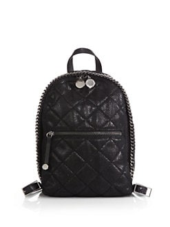 Stella McCartney - Quilted Faux-Leather Mini Backpack