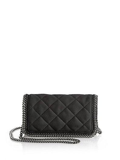 Stella McCartney Quilted Faux-Leather Chain Shoulder Bag