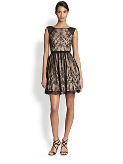 Aidan Mattox - Lace Cocktail Dress
