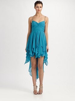 Aidan Mattox - Pleated Chiffon Dress