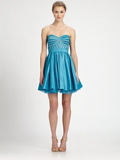 Aidan Mattox - Strapless Fit-&-Flare Dress