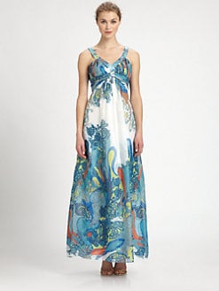 Aidan Mattox - Printed Chiffon Gown
