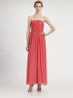 Aidan Mattox - Strapless Chiffon Gown