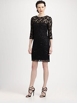 Aidan Mattox - Beaded Lace Dress