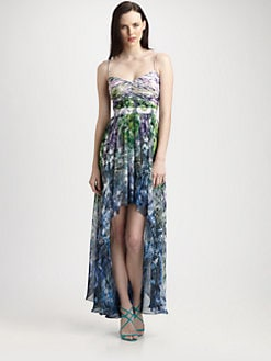 Aidan Mattox - Feather Print Chiffon Gown