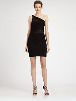 Aidan Mattox - One-Shoulder Ruched Dress