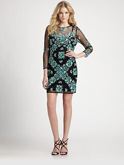 Aidan Mattox - Beaded Mesh Dress