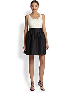 Aidan Mattox - Beaded Taffeta-Skirt Dress