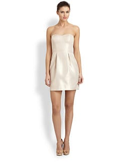 Aidan Mattox - Strapless Shantung Dress